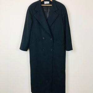 Vintage Full Length Cashmere Wool Blend Coat